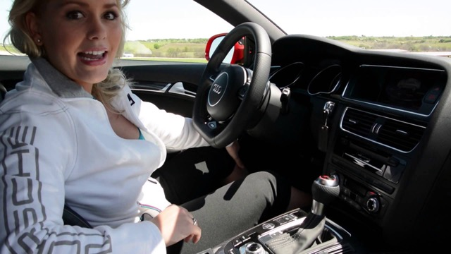 Car Guy Show Host Kristin Treager in an Audi
