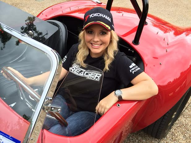 Car Guy Show Host Kristin Treager in a Cobra