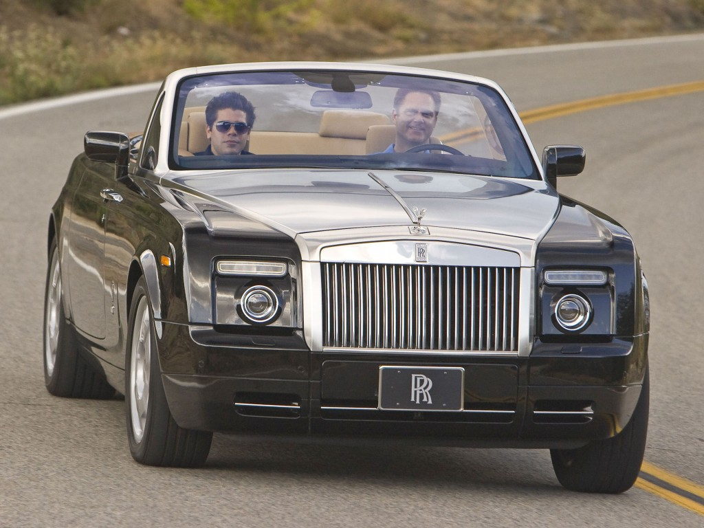 Tim in a Rolls Royce